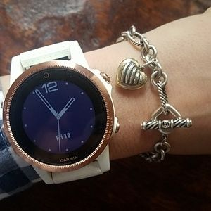David Yurman Heart  Chain Link Toggle Bracelet